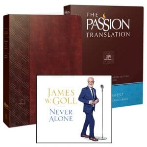 The Passion Translation with Bonus Gift Never Alone CD