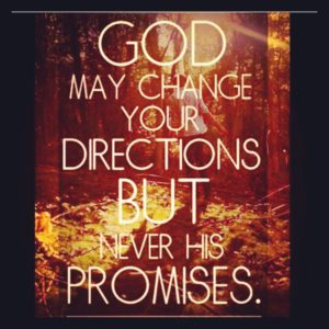 God May Change Your Direction