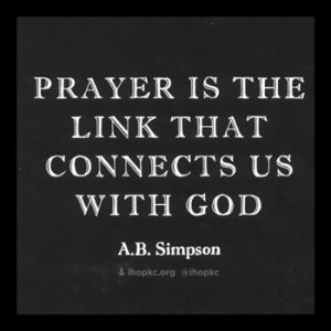 Prayer Connects Us to God