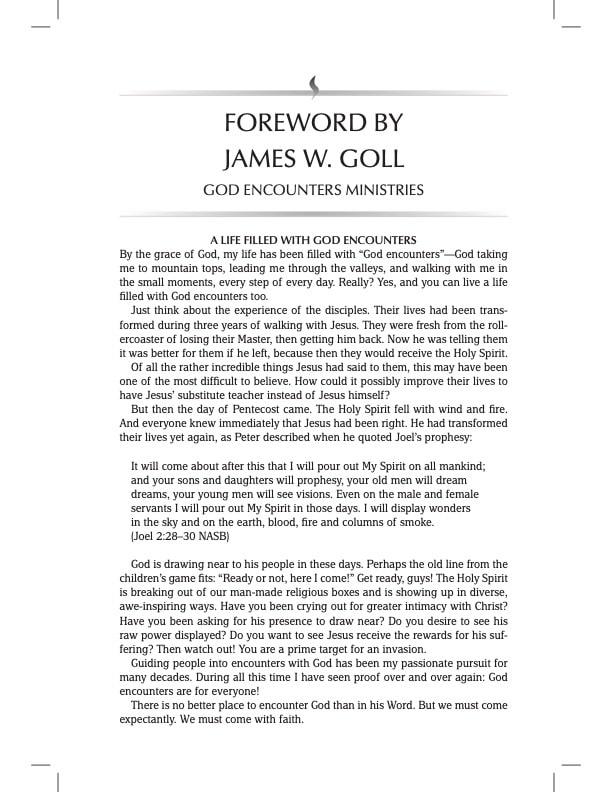 TPT Bible Foreword James Goll