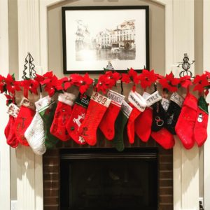 fireplace and stockings